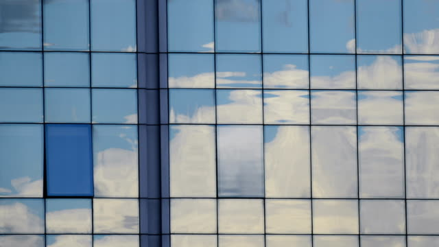 TIMELAPSE: Cloud reflection on glass facade video