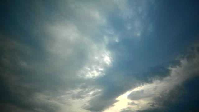 Cloud sky sun time lapse HD video