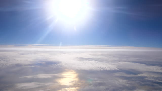 Cloud sky View form airplane Cloud - Sky, Cloudscape, Flying, Airplane, Sun atmosphere stock videos & royalty-free footage
