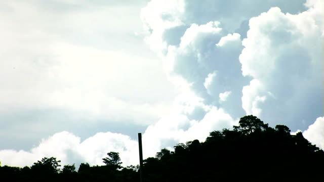 Cloud timelapse over hillside in Costa Rica video