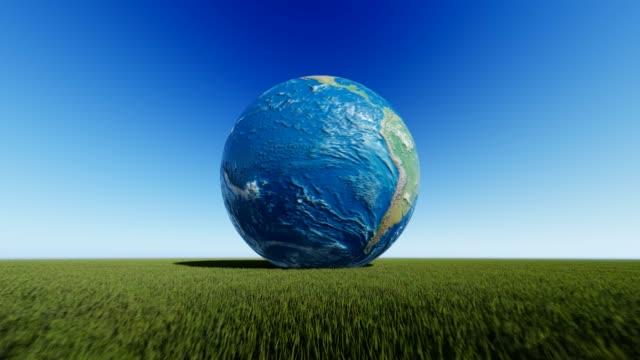 безоблачная планета земля - линия экватора стоковые видео и кадры b-roll