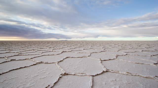 Clouds above salt flat / 4k Time Lapse (Salar De Uyuni, Bolivia) Clouds drifting above the Salar de Uyuni, world's largest salt flat (Bolivia). Shot in September 2014. salt flat stock videos & royalty-free footage