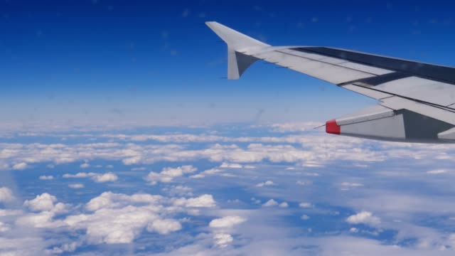 Clouds and blue sky from the plane video
