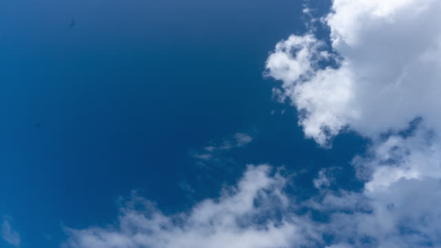 Clouds and bright blue sky background,