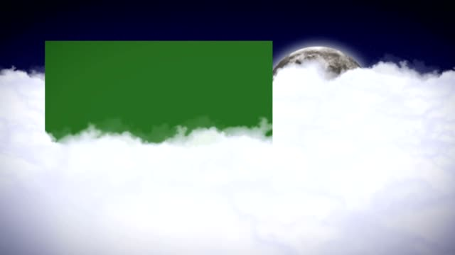 Clouds and Moon Animation, Rendering, Background with Green Screen Monitor, Loop Clouds and Moon Animation, Rendering, Background with Green Screen Monitor, Loop, 4k animation moving image stock videos & royalty-free footage