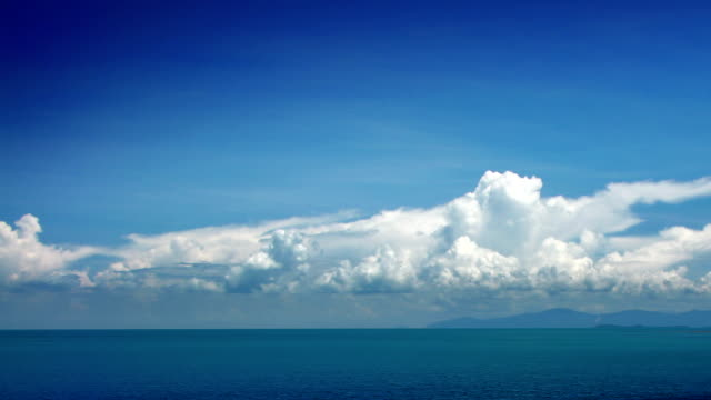Clouds and sea timelapse video