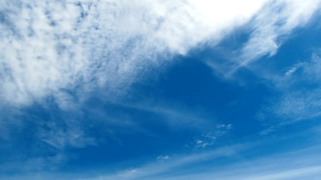 Clouds are Moving in the Blue Sky. TimeLapse video