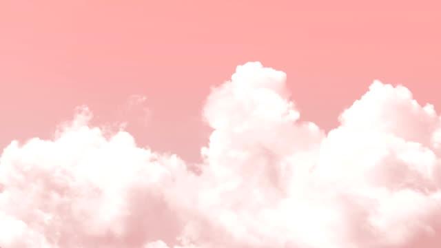 clouds background - różowy filmów i materiałów b-roll