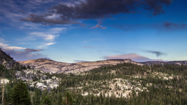 Clouds Dispersing Over Yosemite National Park - Time Lapse video