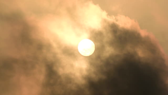 clouds during beautiful sunrise video