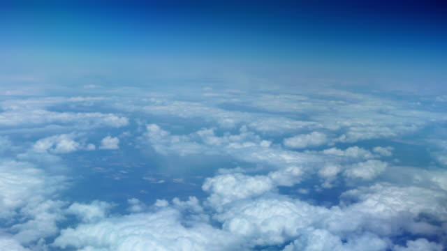 clouds from plane window video