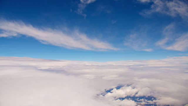 Clouds From the Sky. Aerial View. Creative. Concept. Flying. Moving Through Skies. Symbol of Freedom