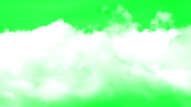 clouds green screen background - nebbia video stock e b–roll