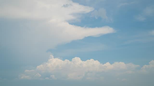 vídeos de stock, filmes e b-roll de nuvens no céu azul de fundo - cirro