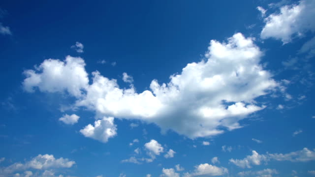 Clouds in blue sky time-lapse