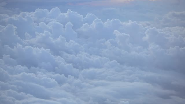 Clouds in the atmosphere, View from passenger aircraft
