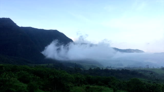 clouds in the Colombian mountains video