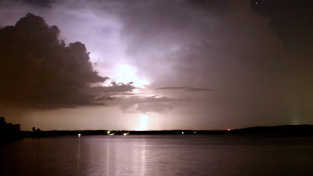 Clouds lightning stars video