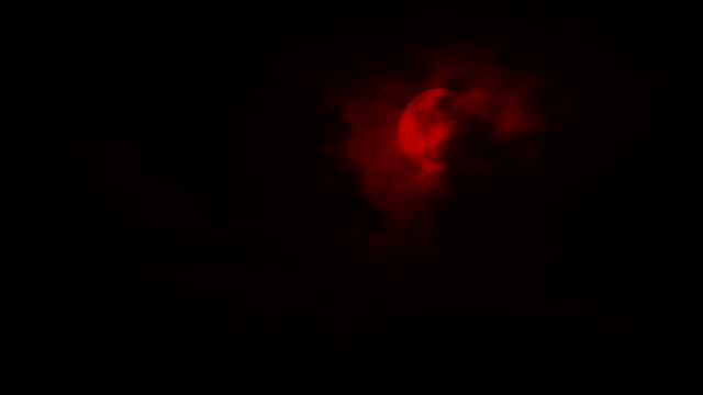 Clouds Move Over Blood Red Moon Night sky with big clouds moving across a full moon count dracula stock videos & royalty-free footage