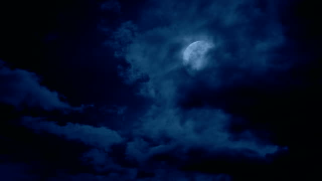 Clouds Move Over The Moon