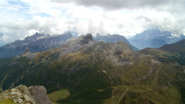 Clouds Moving Over Dolomites Mountains PAN video
