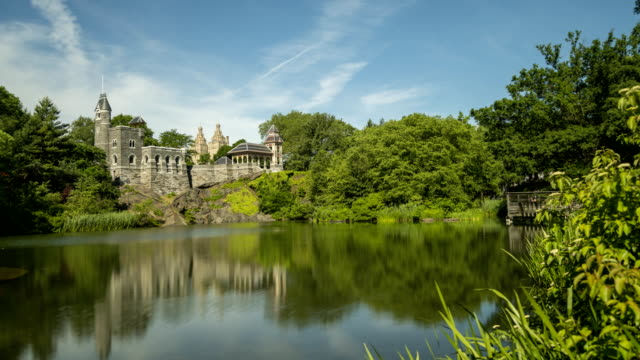 Clouds Moving Over the Belvedere Castle in Central Park New York