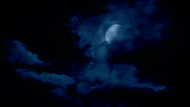 Clouds Moving Over The Moon Full moon appears from behind large clouds at night count dracula stock videos & royalty-free footage