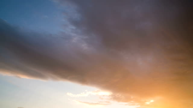 clouds moving rapidly across the sky during sunset video
