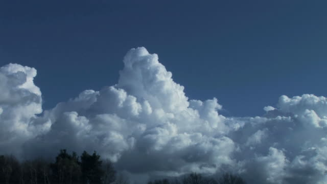 Clouds on blue sky video
