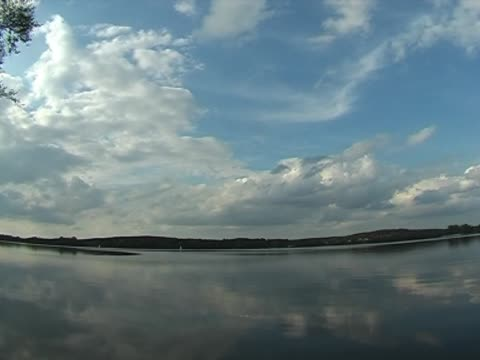 clouds on lake video