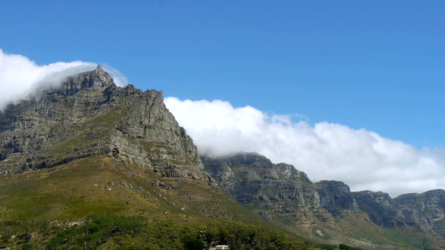 clouds on table mountain, south africa time lapse of clouds over table mountain,cape town,south africa cape peninsula stock videos & royalty-free footage