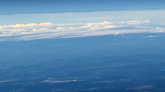 clouds on the horizon at the height of aircraft
