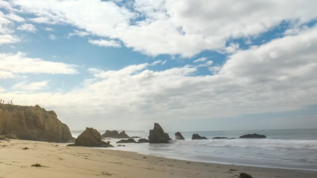 Clouds Open Up Over El Matador State Beach - Time Lapse
