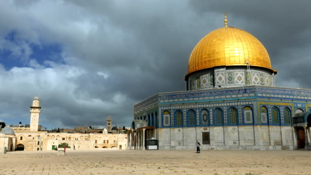 Clouds over Dome of the Rock mosque in Jerusalem video