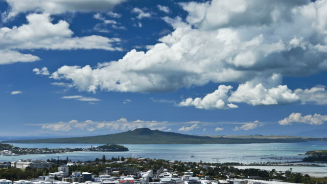 Clouds over Rangitoto video