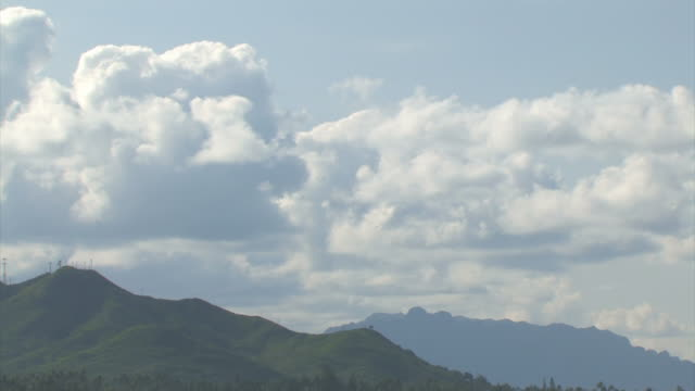 Clouds over ridge tl - HD 30F  oceania stock videos & royalty-free footage