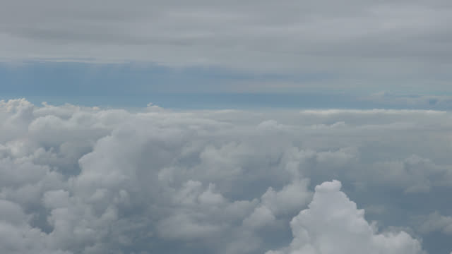 Clouds Passing Airplane Window video