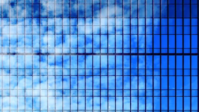 nuages reflètent bâtiment laps de temps de windows - Vidéo