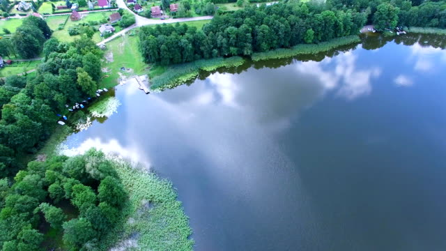 Clouds reflections on lake surface aerial Clouds reflections on lake surface aerial arthropod stock videos & royalty-free footage
