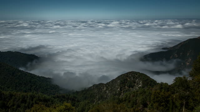 Clouds rolling in over Los Angeles: 4k Timelapse from Mt. Wilson video