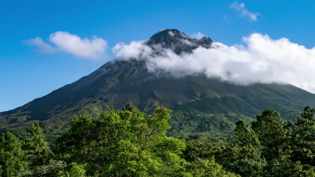 Clouds Rolling over Arenal Volcano in Costa Rica video