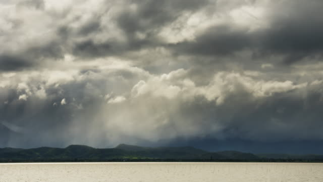 Clouds storm over mountain,Time lapse video