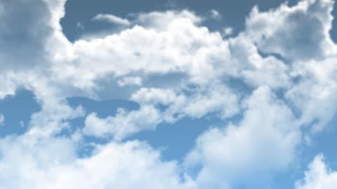 vídeos y material grabado en eventos de stock de nubes en el cielo, seamless loop - caer