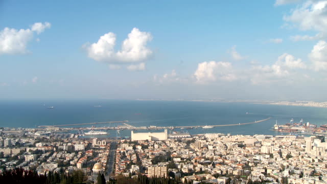 Clouds Time Lapse over the Haifa port, Israel video