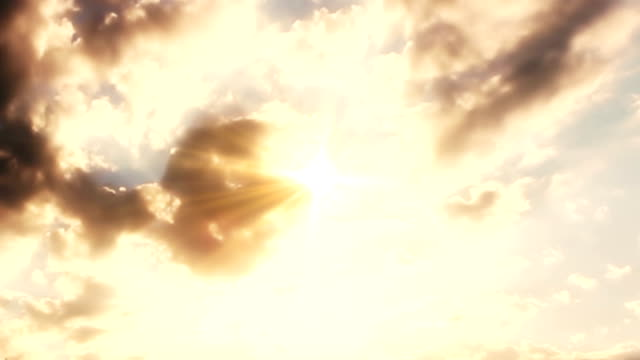 clouds time lapse with sun rays - paradiso video stock e b–roll
