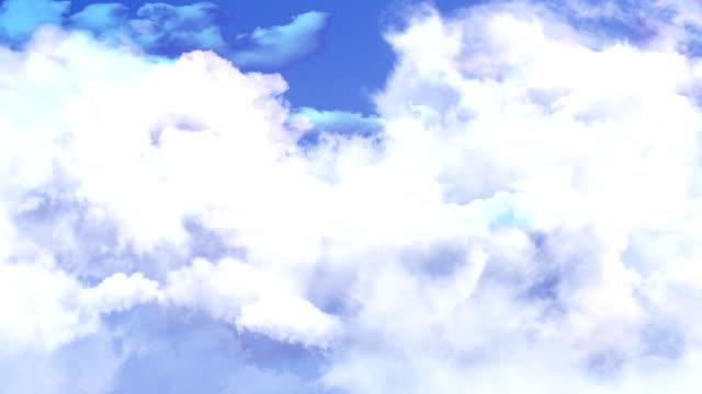 Clouds Vertical Camera Move video