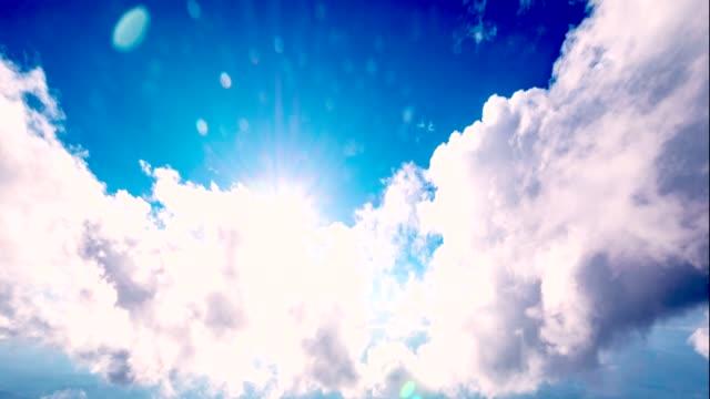 雲と太陽光線 - 層積雲点の映像素材/bロール