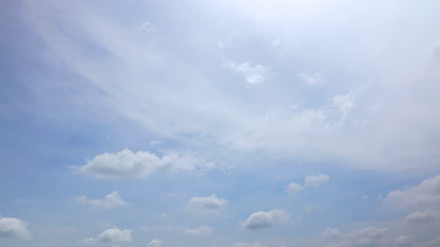 雲並みの背景、タイムラプス - ローアングル点の映像素材/bロール