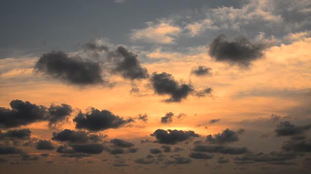Cloudscape on Sunset Sky Backgrounds video