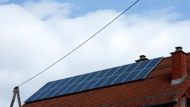 HD TIME-LAPSE: Cloudscape Over Solar Panels video